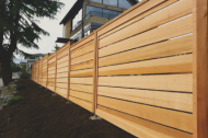 Wood fencing can be a great solution to provide privacy and security to a property. It's a more affordable solution and gives off a warm wood vibe. Wood needs more maintenance, but our high quality fence products make that minimal. Call us!