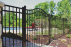 These fences are the most durable material you can get, but also are the most costly. They provide a great style for anyone who loves the look of wrought iron. If you want curb appeal while also setting a boundary, get this fence!